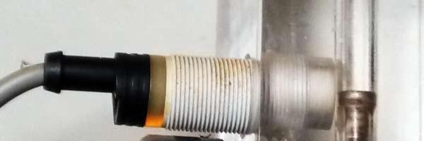 Sensor inductivo usado como detector de caudal