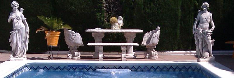 Piscina de estilo romano