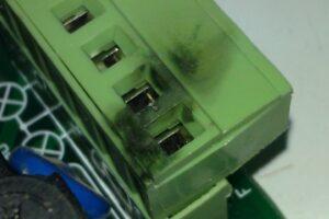 Conector quemado