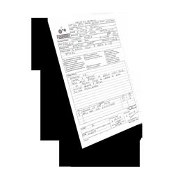 Plantilla Orden de Trabajo tamaño DIN-A5 por Fidestec