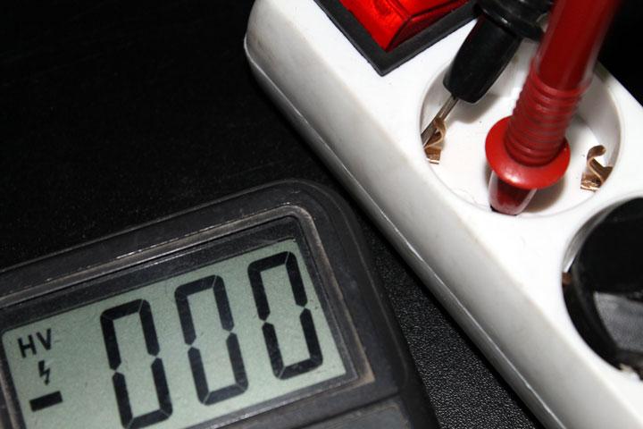 Medir neutro y tierra con polímetro