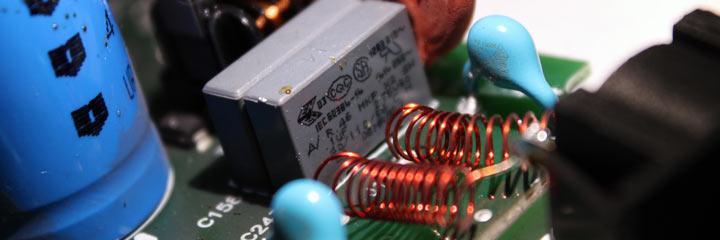 Filtro EMC en fuente conmutada