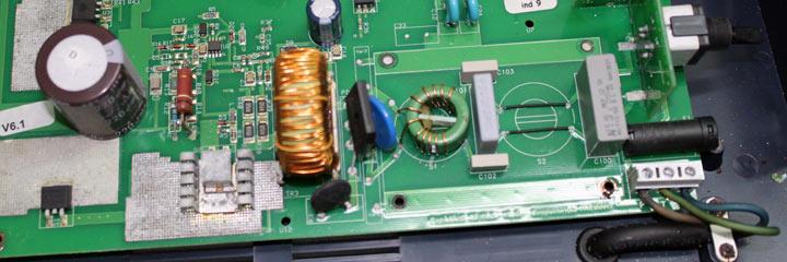 Filtro EMC con una etapa puenteada