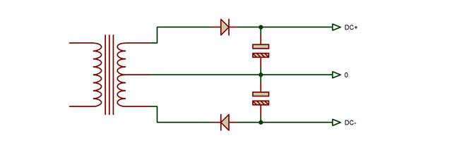 Fig. 6 - Rectificador y filtro dual