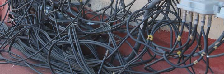 Cables desorganizados