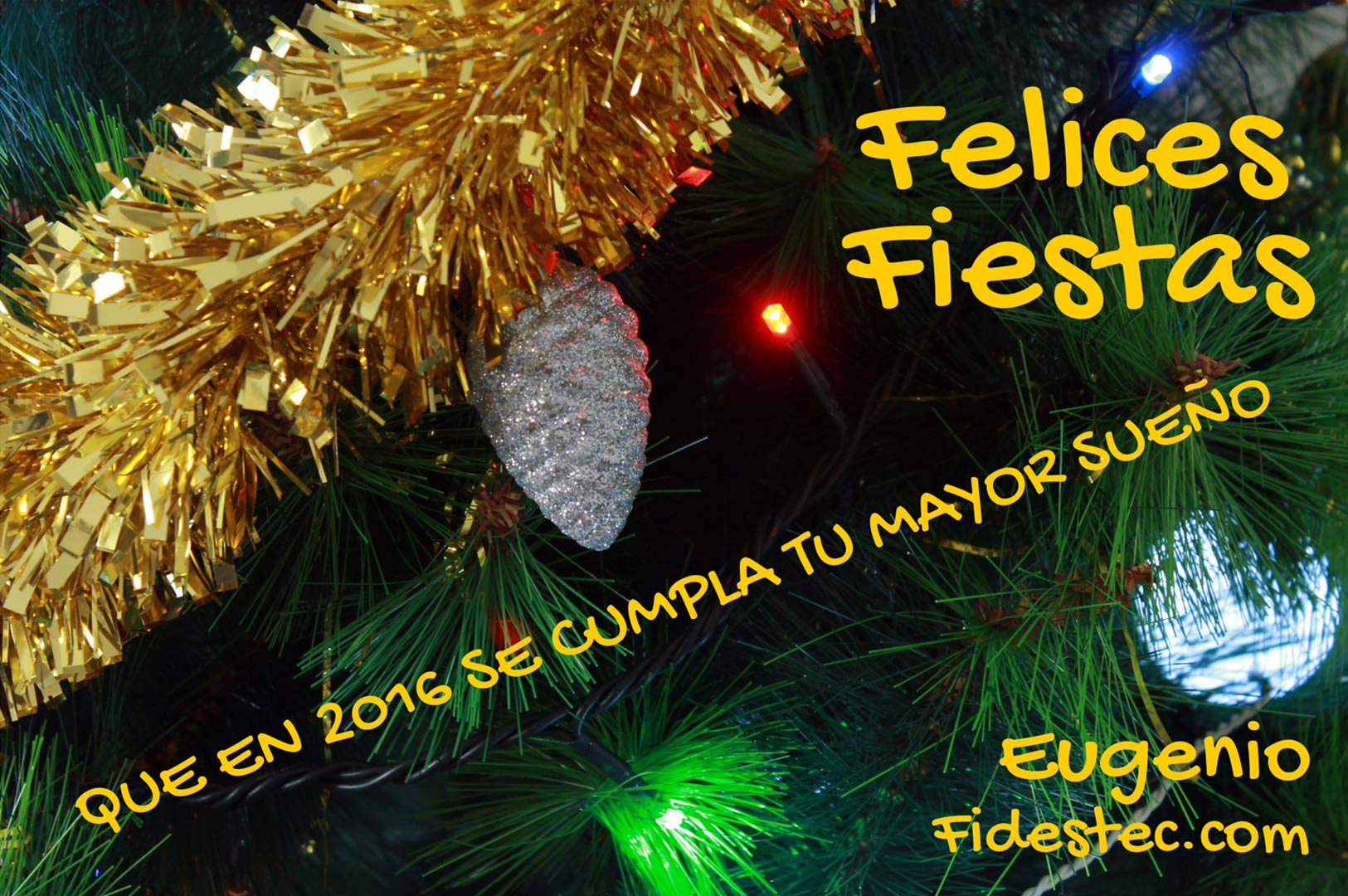 Feliz navidad y año 2016