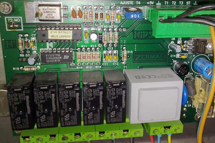 Placa con microcontrolador