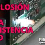 Explosión en resistencia SMD