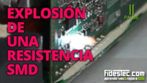 Explosión en una resistencia SMD