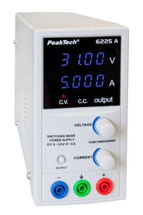 Fuente de alimentación de laboratorio PeakTeck 6225A