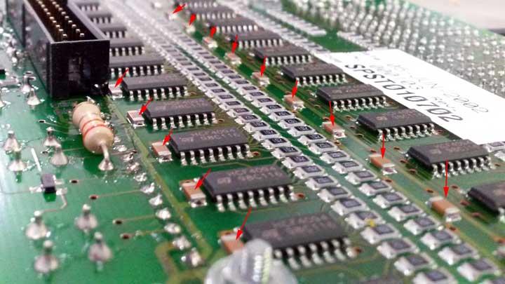 Condensadores de desacoplo SMD