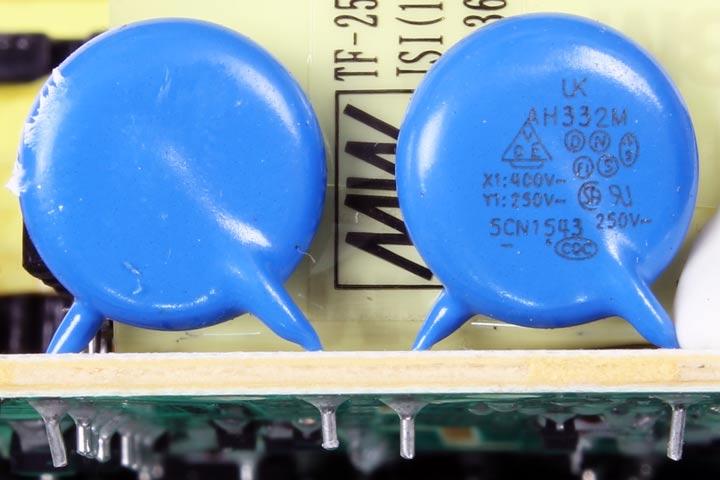 Condensador de seguridad X1 Y1