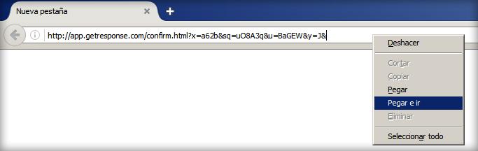 Copiar enlace a la barra de direcciones del navegador