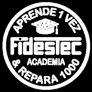 Academia Fidestec - Logotipo blanco