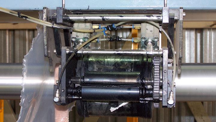Impresora para film de polietileno sucia