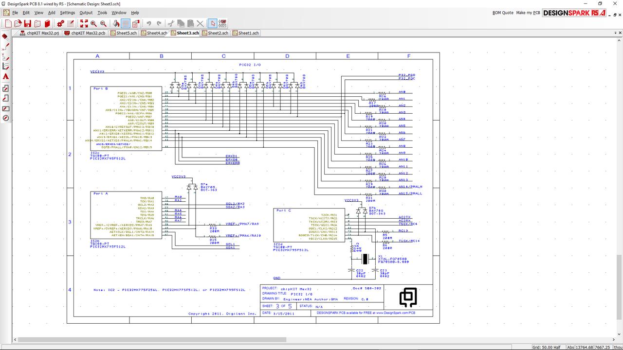 Design Spark PCB esquema