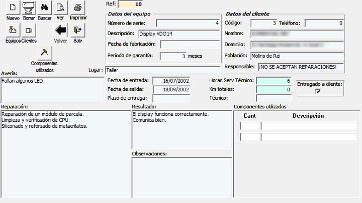 Mi primera aplicación de gestión de reparaciones