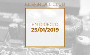 Emisión en directo el 25-01-2019 en el bar del Club de electronicología
