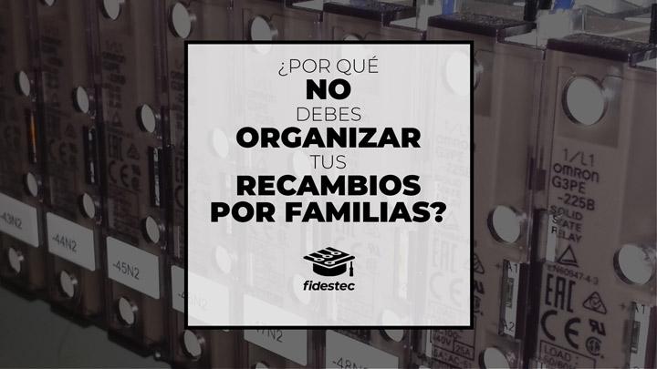 Por qué no debes organizar tus recambios por familias