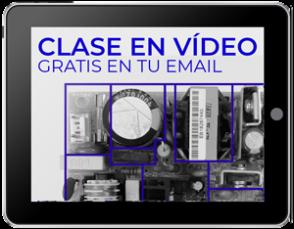 Tablet con la clase en vídeo gratuita para identificar secciones de fuentes conmutadas